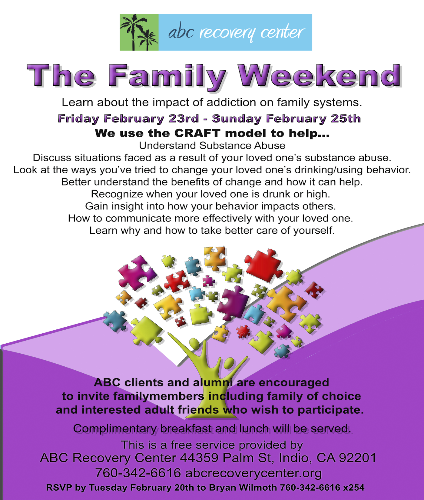Family Weekend February 2018 Sobriety, Drug Recovery